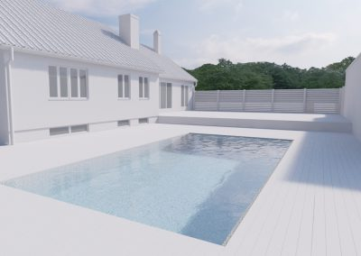 Sketch for pool area